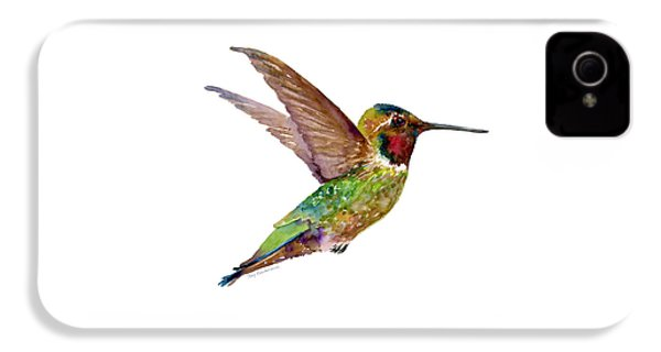 Anna Hummingbird IPhone 4s Case by Amy Kirkpatrick