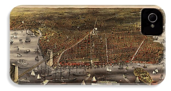 Antique Map Of Brooklyn By Currier And Ives - Circa 1879 IPhone 4s Case