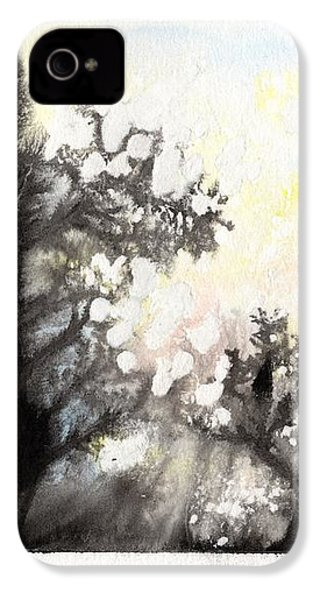 IPhone 4s Case featuring the painting Arbres En Feu by Marc Philippe Joly