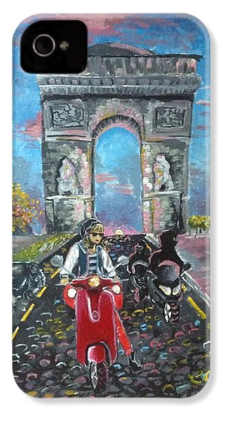 Arc De Triomphe IPhone 4s Case by Alana Meyers