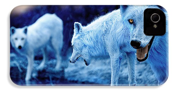Arctic White Wolves IPhone 4s Case by Mal Bray