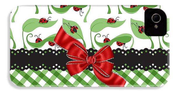 Asiatic Ladybugs  IPhone 4s Case by Debra  Miller