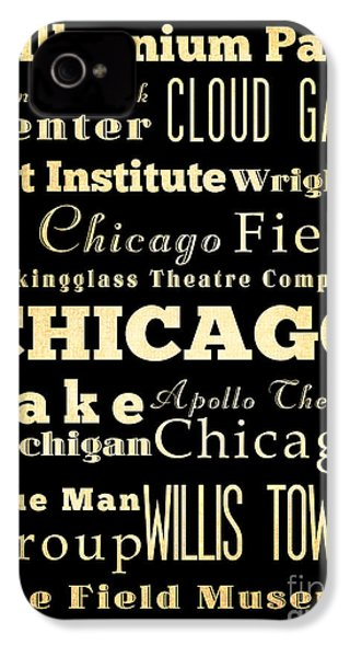 Attractions And Famous Places Of Chicago Illinois IPhone 4s Case by Joy House Studio