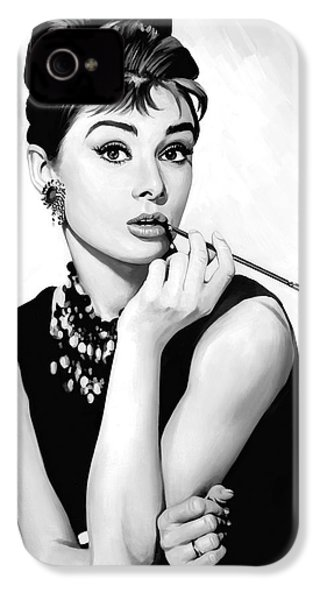 Audrey Hepburn Artwork IPhone 4s Case by Sheraz A