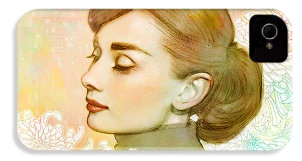 Audrey Hepburn IPhone 4s Case by Catherine Noel