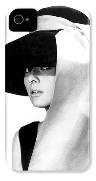 Audrey Hepburn IPhone 4s Case by Daniel Hagerman