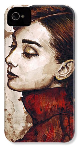 Audrey Hepburn IPhone 4s Case by Olga Shvartsur