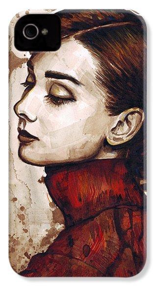 Audrey Hepburn IPhone 4s Case by Olga Shvartsur