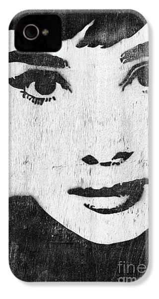 Audrey Hepburn IPhone 4s Case by Tim Gainey