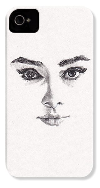 Audrey IPhone 4s Case by Lee Ann Shepard