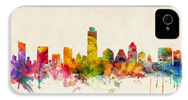 Austin Texas Skyline IPhone 4s Case by Michael Tompsett