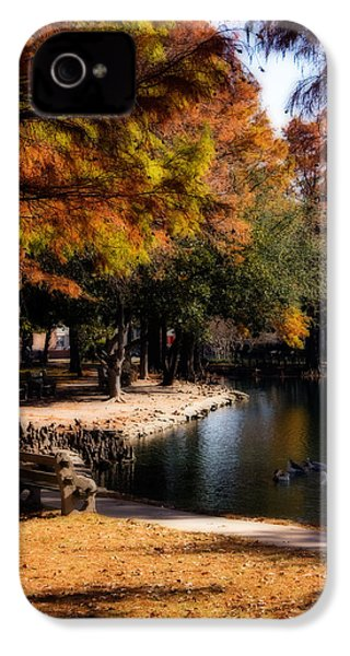 Autumn On Theta IPhone 4s Case by Lana Trussell