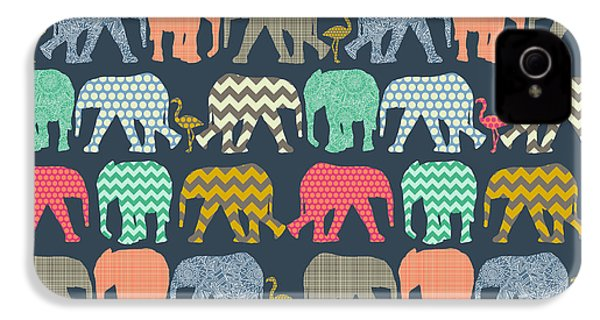 Baby Elephants And Flamingos IPhone 4s Case by Sharon Turner
