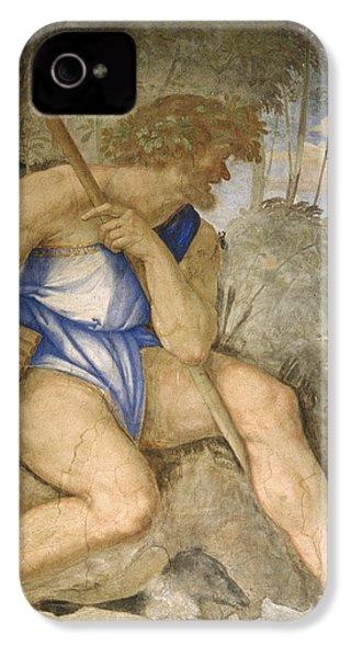 Baldassare Peruzzi 1481-1536. Italian Architect And Painter. Villa Farnesina. Polyphemus. Rome IPhone 4s Case by Baldassarre Peruzzi
