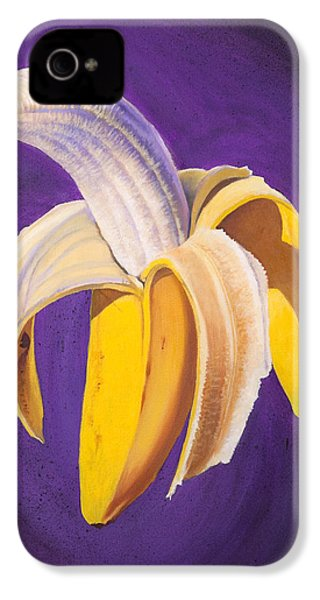 Banana Half Peeled IPhone 4s Case by Karl Melton