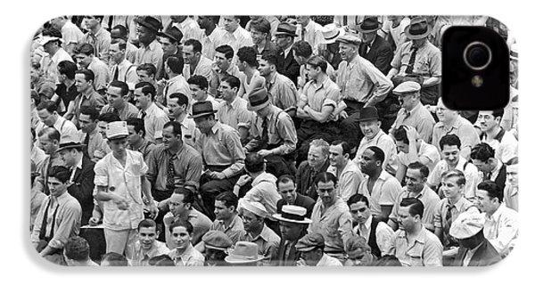 Baseball Fans In The Bleachers At Yankee Stadium. IPhone 4s Case