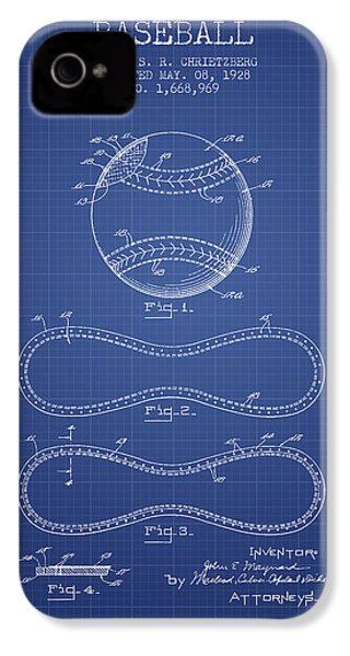 Baseball Patent From 1928 - Blueprint IPhone 4s Case by Aged Pixel