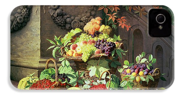 Baskets Of Summer Fruits IPhone 4s Case by William Hammer