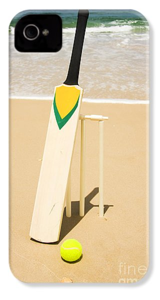 Bat Ball And Stumps IPhone 4s Case by Jorgo Photography - Wall Art Gallery
