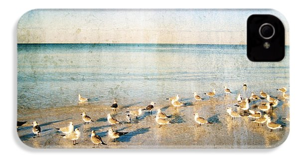 Beach Combers - Seagull Art By Sharon Cummings IPhone 4s Case by Sharon Cummings