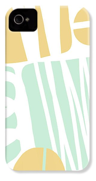 Bento 1- Abstract Shape Painting IPhone 4s Case by Linda Woods