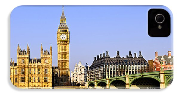 Big Ben And Westminster Bridge IPhone 4s Case by Elena Elisseeva