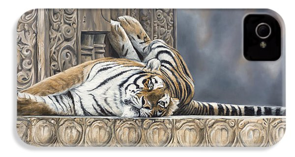 Big Cat IPhone 4s Case by Lucie Bilodeau