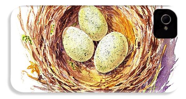 Bird Nest A Happy Trio IPhone 4s Case by Irina Sztukowski