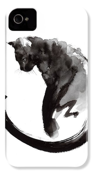 Black Cat IPhone 4s Case by Mariusz Szmerdt