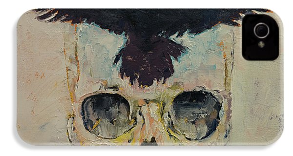 Black Crow IPhone 4s Case by Michael Creese