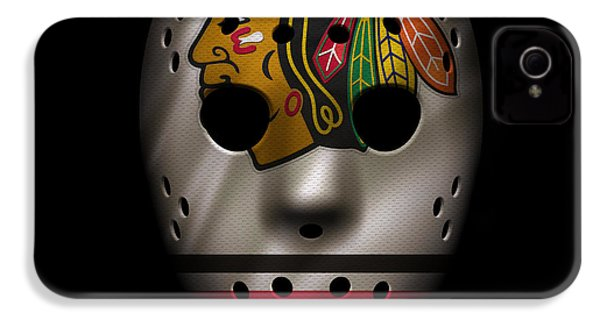 Blackhawks Jersey Mask IPhone 4s Case by Joe Hamilton