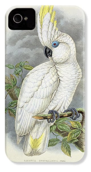 Blue-eyed Cockatoo IPhone 4s Case by William Hart