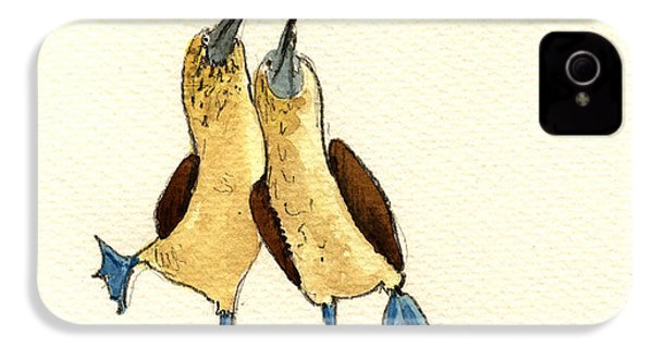 Blue Footed Boobies IPhone 4s Case by Juan  Bosco