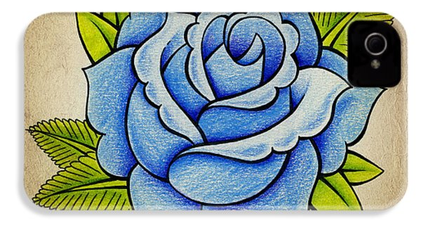 Blue Rose IPhone 4s Case by Samuel Whitton