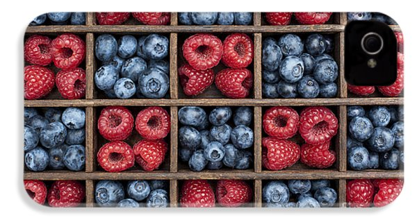 Blueberries And Raspberries  IPhone 4s Case by Tim Gainey