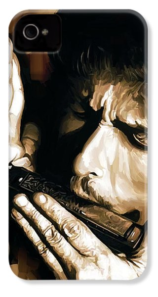 Bob Dylan Artwork 2 IPhone 4s Case by Sheraz A
