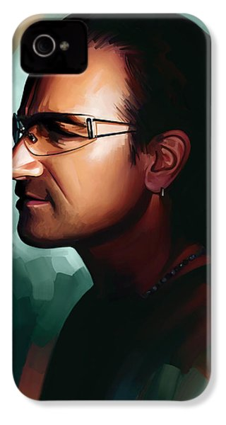 Bono U2 Artwork 1 IPhone 4s Case by Sheraz A
