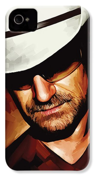 Bono U2 Artwork 3 IPhone 4s Case by Sheraz A