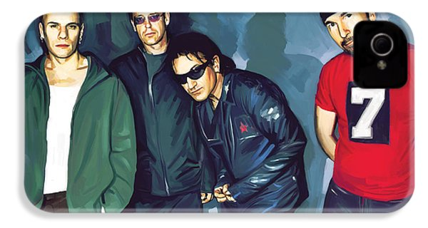 Bono U2 Artwork 5 IPhone 4s Case by Sheraz A