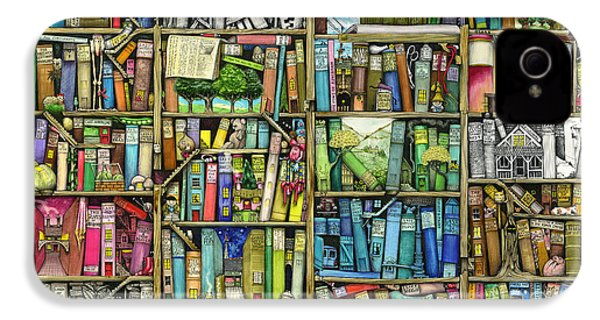 Bookshelf IPhone 4s Case by Colin Thompson