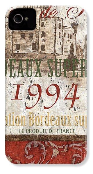 Bordeaux Blanc Label 2 IPhone 4s Case by Debbie DeWitt