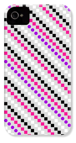 Boxed Stripe IPhone 4s Case by Louisa Hereford