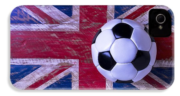 British Flag And Soccer Ball IPhone 4s Case