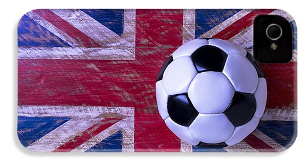 British Flag And Soccer Ball IPhone 4s Case by Garry Gay