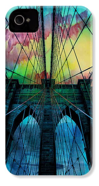Psychedelic Skies IPhone 4s Case by Az Jackson