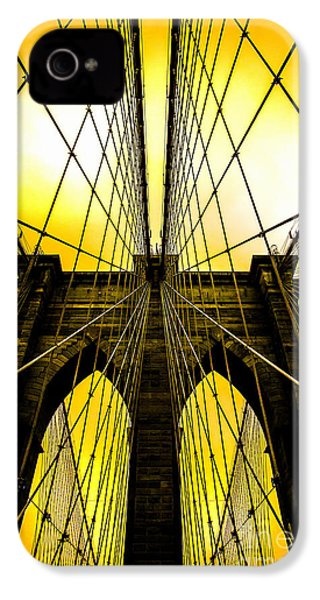 Brooklyn Bridge Yellow IPhone 4s Case by Az Jackson