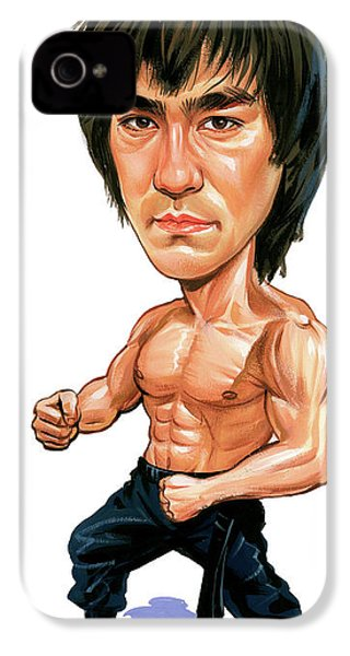 Bruce Lee IPhone 4s Case by Art