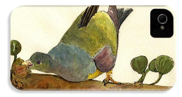 Bruce S Green Pigeon IPhone 4s Case by Juan  Bosco