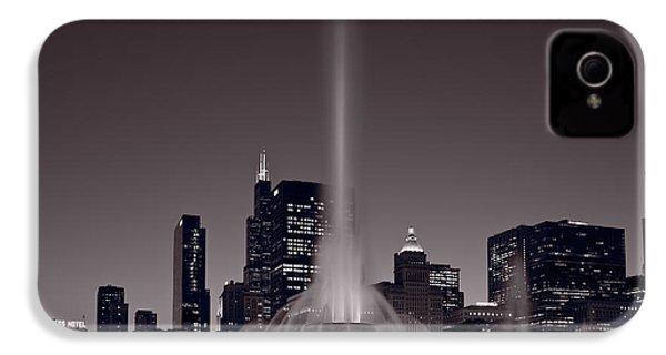 Buckingham Fountain Nightlight Chicago Bw IPhone 4s Case