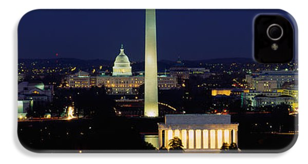 Buildings Lit Up At Night, Washington IPhone 4s Case by Panoramic Images